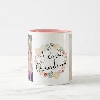I Liebe-Großmutter-kundenspezifische Foto-Tasse Zweifarbige Tasse