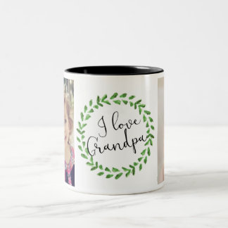 I Liebe-Großvater-kundenspezifische Foto-Tasse Zweifarbige Tasse