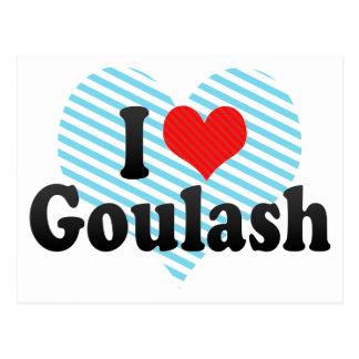 I Liebe-Gulasch Postkarte