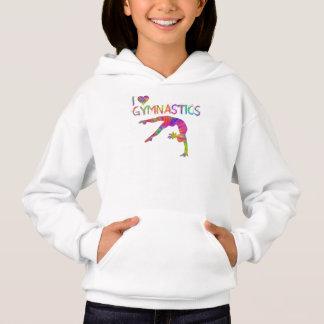 I Liebe-Gymnastik-gefärbte KrawatteHoodie Hoodie
