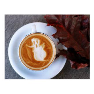 I Liebe Halloween ein Latte Postkarte