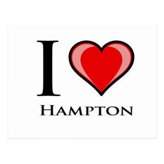 I Liebe Hampton Postkarte