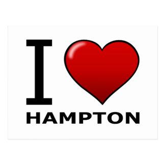 I LIEBE HAMPTON, VA - VIRGINIA POSTKARTE