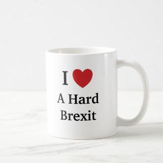 I Liebe hartes Brexit Brexit lustiges Kaffeetasse