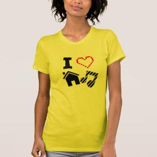 I Liebe-Haus-Musik-Damen T-Shirt