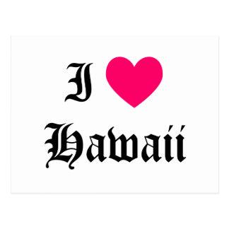 I Liebe Hawaii Postkarte