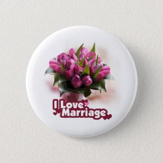 I Liebe-Heirat-Ehestand Runder Button 5,7 Cm
