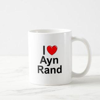 I Liebe (Herz) Ayn Rand Kaffeetasse