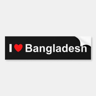 I Liebe-Herz Bangladesch Autoaufkleber