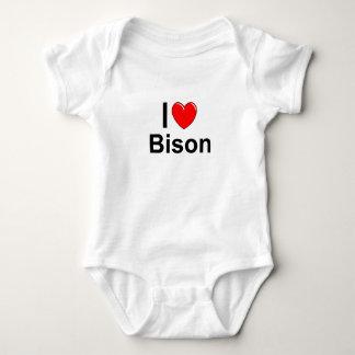I Liebe-Herz-Bison Baby Strampler