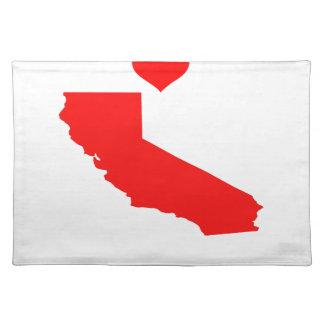 I Liebe (Herz) Kalifornien Tischset