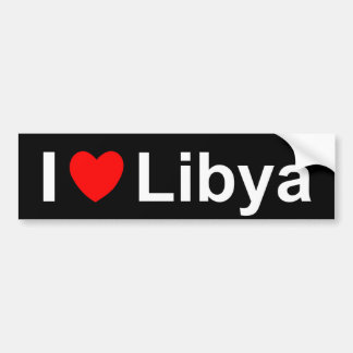 I Liebe-Herz Libyen Autoaufkleber