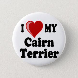 I Liebe (Herz) mein Cairn-Terrier-Hund Runder Button 5,1 Cm