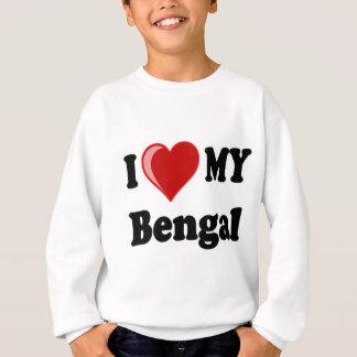 I Liebe (Herz) meine bengalische Katze Sweatshirt