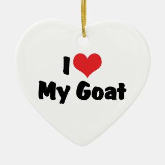 I Liebe-Herz meine Ziege Keramik Ornament