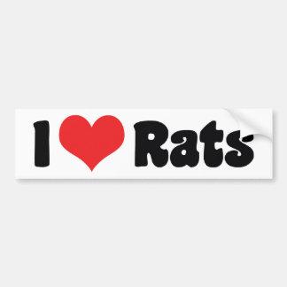 I Liebe-Herz-Ratten - Haustier-Ratten-Liebhaber Autoaufkleber