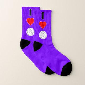 I Liebe (Herz) Volleyball irgendeines Socken