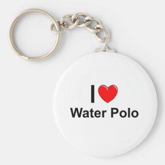 I Liebe-Herz-Wasser-Polo Schlüsselanhänger