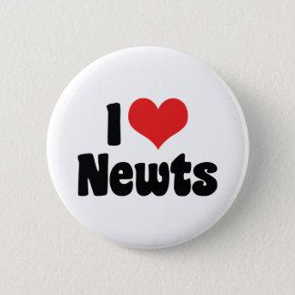 I Liebe-HerzNewts Runder Button 5,7 Cm