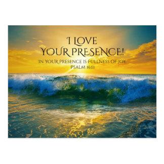 I Liebe Ihre Anwesenheit, Psalm-16:11 Postkarte
