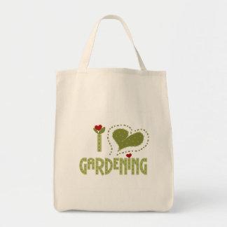 I Liebe-im Garten arbeitent-shirts und Geschenke Tragetasche