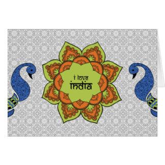 I Liebe Indien Karte
