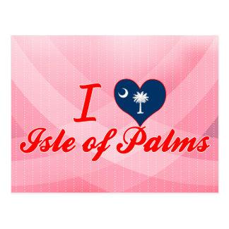I Liebe-Insel der Palmen, South Carolina Postkarte