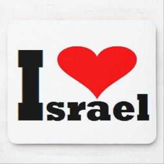I Liebe Israel - mit großem rotem Herzen Mousepads