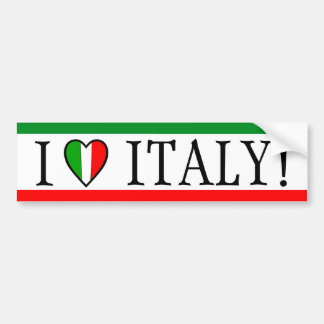 I Liebe Italien! Herz-Flagge Autoaufkleber
