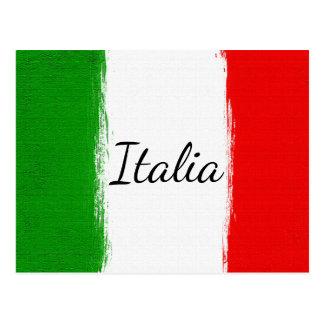 I Liebe Italy.Flag von Italien Postkarte