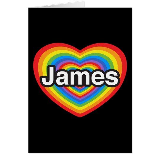 I Liebe James. Liebe I Sie James. Herz Karte