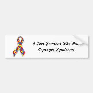 I Liebe jemand, das Asperger Syndrom hat Autoaufkleber