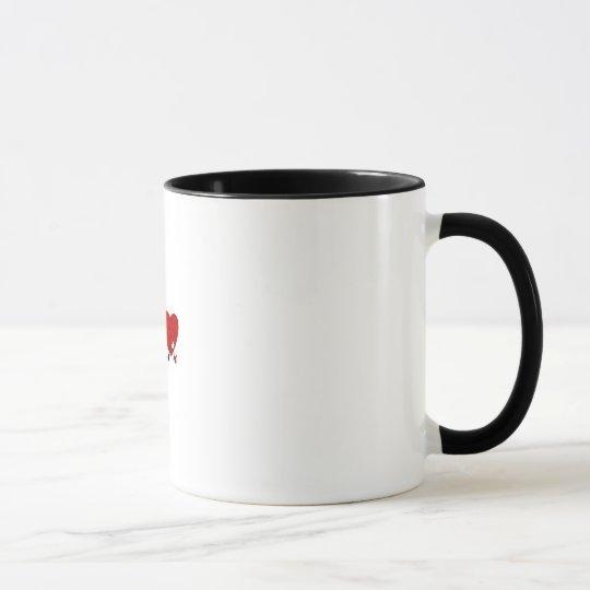 I Liebe jemand mit der Ton-Tasse des Autismus zwei Tasse