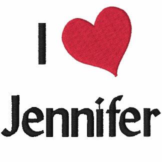 I Liebe-Jennifer gesticktes Shirt