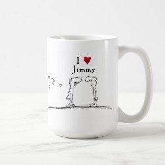 "I Liebe Jimmy"" ""ich Liebe Herz Jimmys"" Jimmy Kaffeetasse"