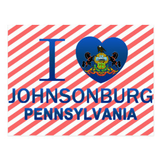 I Liebe Johnsonburg, PA Postkarte