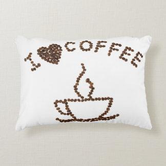 I Liebe-Kaffee-Baumwollkissen Zierkissen