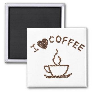 I Liebe-Kaffee-Magnet Quadratischer Magnet