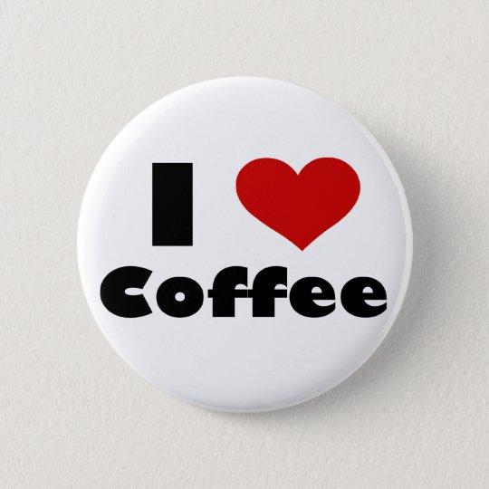 I Liebe-Kaffee Runder Button 5,1 Cm