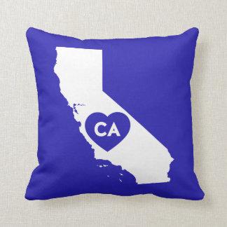 I Liebe-Kalifornien-Staatthrow-Kissen Kissen