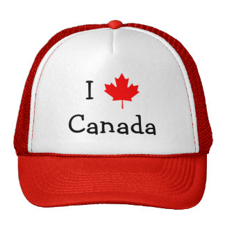 I Liebe-Kanada-Hut Retrokappen
