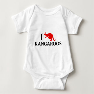 I Liebe-Kängurus Baby Strampler