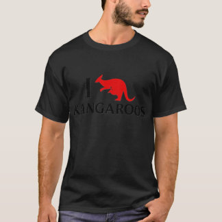 I Liebe-Kängurus T-Shirt