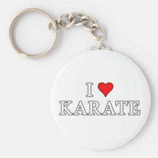 I Liebe-Karate Keychain Standard Runder Schlüsselanhänger