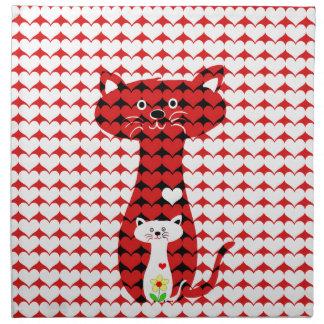I Liebe-Katzen 2 Stoffserviette