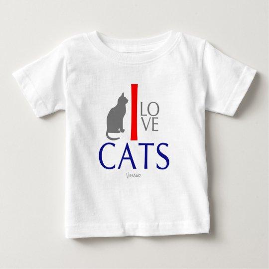 I Liebe-Katzen-Tiere für Babys durch VIMAGO Baby T-shirt
