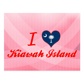 I Liebe Kiawah Island, South Carolina Postkarte