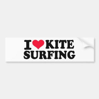 I Liebe Kitesurfing Autoaufkleber