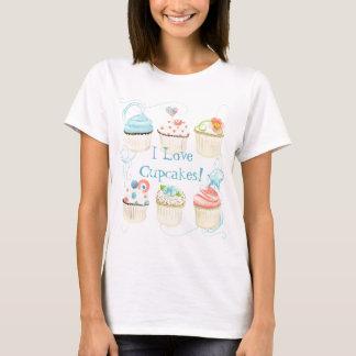 I Liebe-kleine Kuchen!  Das T-Shirt der Frau