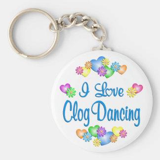 I Liebe-Klotz-Tanzen Schlüsselanhänger
